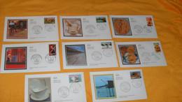 LOT 8 ENVELOPPES FDC DE 2003../ PORTRAITS DE REGIONS - LA FRANCE A VIVRE..LA PECHE AU CARRELET, LA PORCELAINE, LE FOIE G - 2000-2009