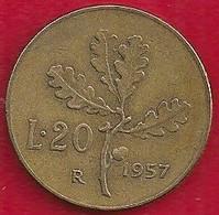 ITALIE 20 LIRE - 1957 - Unclassified