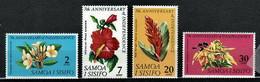 Samoa & Sisifo 1969 Mi 191-194 Flowers - MNH - Samoa