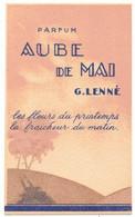 CARTE PARFUMEE PUBLICITAIRE  : PUBLICITE PARFUM G LENNE AUBE DE MAI LES FLEURS DU PRINTEMPS LA FRAÎCHEUR DU MATIN - Profumeria Antica (fino Al 1960)