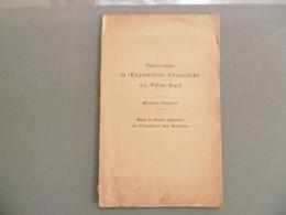 Livret De 12 Pages Du Programe De L'Expédition Française Au Pole SUD  - Mission CHARCOT - Documentos Históricos