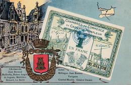 < (14) Honfleur Calvados .. Carte Postale Billet Nécessite Un Franc Chambre De Commerce .. TTB - Bons & Nécessité