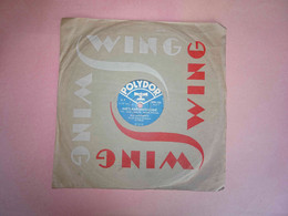 Disque 78 Tours Polydor 590 125, Monde (slow) Métamorphose (fox) G. Luypaerts Et Son Grand Orchestre De Danse, Wing - 78 G - Dischi Per Fonografi