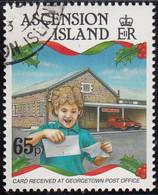 Ascension 1993 Used Sc #574 65p Child Reading Card Christmas - Ascension (Ile De L')