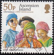 Ascension 1999 Used Sc #744 50p 4 Children As Pirates Christmas - Ascension (Ile De L')