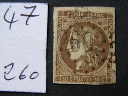 Bordeaux  No 47 - 1870 Bordeaux Printing