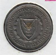 @Y@    Cyprus   25  Mills    1971    (3867) - Cyprus