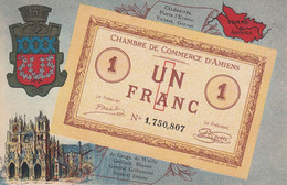 < (80) Amiens Somme .. Carte Postale Billet Nécessite Un Franc Chambre De Commerce .. TTB - Bons & Nécessité