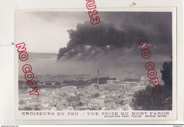 Au Plus Rapide WW2 Sabordage Flotte Toulon Novembre 1942 Beau Format Excellent état Croiseurs En Feu - Guerra, Militari