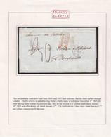 1849. PUERTO CABELLO TO BORDEAUX. BOXED COLONIES & ART. 13 PER STEAMER VIA OSTENDE, LONDON AND CALAIS. - Venezuela