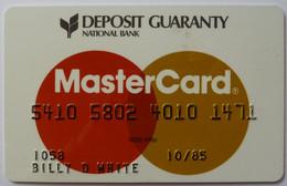 USA - Credit Card - MasterCard - Deposit Guaranty National Bank - Exp 10/85 - Used - Carte Di Credito (scadenza Min. 10 Anni)