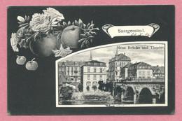 57 - SAARGEMUND - SARREGUEMINES - Carte Fantaisie Pommes - Neue Brücke Und Theater - Sarreguemines