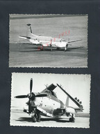 2 PHOTOS AVIATION AVION PORTES OUVERTES À COGNAC 1974 14,5X10 : - Aviation