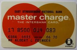 USA - Credit Card - Master Charge - East Stroudsburg National Bank - Exp 06/70 - Used - Carte Di Credito (scadenza Min. 10 Anni)