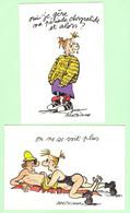 K894 - Lot 2 Illustrations De Claire Bretécher - On Ne Se Voit Plus Et Oui Je Gère Ma Période Chrysalide - Andere Illustrators