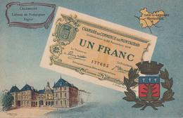 < (82) Montauban Tarn Et Garonne .. Carte Postale Billet Nécessite Un Franc Chambre De Commerce .. TTB - Bons & Nécessité