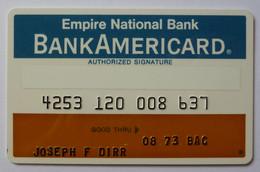 USA - Credit Card - Bank Americard - Empire National Bank - Exp 08/73 - Used - Carte Di Credito (scadenza Min. 10 Anni)