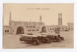 62 PAS DE CALAIS - LENS La Gare, Autobus En Attente - Lens