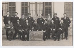 """CARTE PHOTO FONTANEL DRAGUIGNAN : """" LE RENOUVEAU """" SOCIETE MUSICALE ? CULTURELLE ? PROMOTION 1923-1926 - 2 SCANS - - Draguignan"""