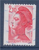 Liberté De Gandon, D'après Delacroix 2f10 Roulette Rouge N°2322 Oblitéré - 1982-90 Vrijheid Van Gandon