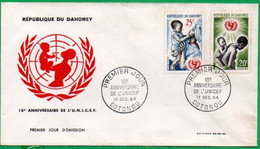 FDC - 18ème Anniversaire UNICEF- 1964 - Benin – Dahomey (1960-...)