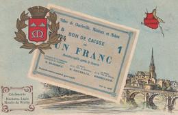 < (08) Charleville Mézières Ardennes .. Carte Postale Billet Nécessite Un Franc Chambre De Commerce .. TTB - Bons & Nécessité