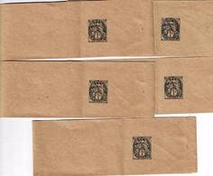 5 Bandes Journaux 82 BJ 1 Neuves Avec Chiffre 104 - Newspaper Bands