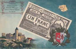 < (32 ) Auch Gers .. Carte Postale Billet Nécessite Un Franc Chambre De Commerce .. TTB - Bons & Nécessité