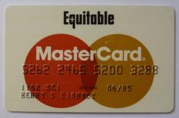 USA - Credit Card - MasterCard - Equitable Bank Of Delaware - Exp 06/85 - Used - Carte Di Credito (scadenza Min. 10 Anni)