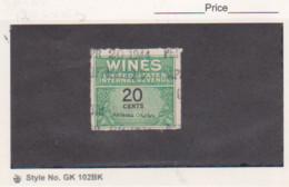 US 1942 4c Wines Revenue Stamp Scott # RE130 Used - Revenues