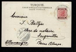 "Post Card 1907 Beirut To Ingviller / Ingweiler Alsace. ""Beirut Oesterr. Post"" - Lebanon"