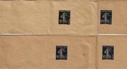 4 Bandes Journaux Neuves Dont Une 278BJ1 Et 4 279 BJ1 Avec Chiffres Respectifs 407 Et 935 - Newspaper Bands