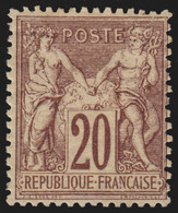 N°67, Sage 20c Brun-lilas, Type I, Neuf * Avec Trace De Charnière - TB - 1876-1878 Sage (Type I)