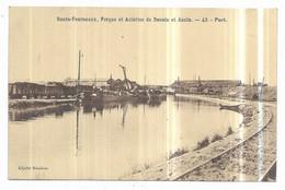 Denain Hauts-Fourneaux, Forges Et Aciéries De Denain Et Anzin Port Péniches Wagon Cliché Mésière N° 43 - Denain