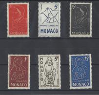 MONACO.  YT  N° 399/404   Neuf **  1954 - Unused Stamps