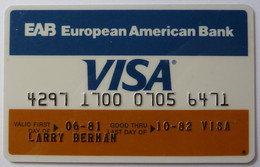 USA - Credit Card - VISA - EAB European American Bank - Exp 10/82 - Used - Carte Di Credito (scadenza Min. 10 Anni)