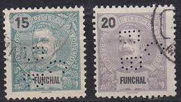 PORTUGAL [Funchal] MiNr 0013 Ex ( O/used ) [01] Perfin Firmenlochung - Funchal