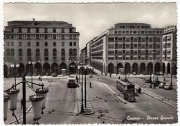 LIVORNO - PIAZZA GRANDE - 1955 - FILOBUS - AUTOBUS - PULLMAN - Livorno