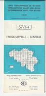 Carte Topographique De Belgique 1:25000  - 57/ 3-4 FROIDCHAPELLE - SENZEILLES - Relevé 1970-1985 - Topographical Maps