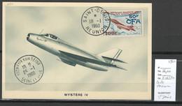 Reunion - CP Maximum Mystere IV - 1960 Saint Denis - Airmail