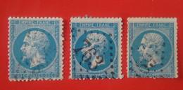 RARES VARIÉTÉS 121F3 Et 129F3 SUR 3 NAPOLÉON N°22 - 1862 Napoleone III