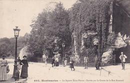 75, 18e, Montmartre, Le Square Saint-Pierre, Entrée Par La Grotte De La Rue Ronsard, Animée - Piazze