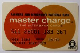 USA - Credit Card - Master Charge - Farmers & Merchants National Bank - Exp 04/79 - Used - Carte Di Credito (scadenza Min. 10 Anni)