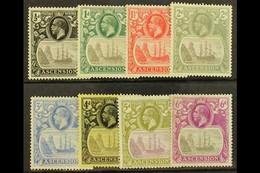 1924-33 Badge Set To 6d, SG 10/16, Fine Mint. (8) For More Images, Please Visit Http://www.sandafayre.com/itemdetails.as - Ascension (Ile De L')