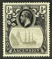 "1924-33 VARIETY ½d Grey Black & Black, Variety ""TORN FLAG"", SG 10b, Fine Mint For More Images, Please Visit Http://www.s - Ascension (Ile De L')"