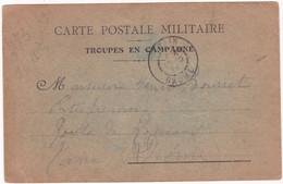 Militaria - Militaire : Guerre 1914-18 : Carte Postale Militaire : Troupes En Campagne 1914 : Attention Déchirure Bas G. - Guerra 1939-45