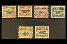"1930 Air Complete Basic Set With ""CORREO AEREO"" Overprints, SG 228/235 Or Scott C11/C12, C14/C16 Plus C18, Very Fine Mi - Bolivie"