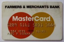 USA - Credit Card - MasterCard - Farmers & Merchants Bank - Exp 07/85 - Used - Carte Di Credito (scadenza Min. 10 Anni)