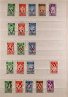 1945-1960 BOGUS OVERPRINT VARIETIES & ERRORS On The Unissued Red Cross Stamps, Includes 1945 Victory Overprints, 1950 Re - Ethiopia