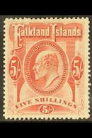 1904 5s Red, SG 50, Very Fine Mint For More Images, Please Visit Http://www.sandafayre.com/itemdetails.aspx?s=637531 - Falkland Islands